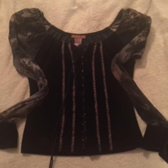 Miss Me Tops - Vintage Miss Me Corset Blouse, Size Medium